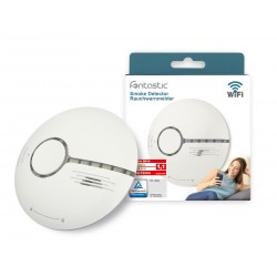 Wi-Fi Smoke Detector white 30m² Monitoring Range EN 14604 certified, comp with Android,iOS