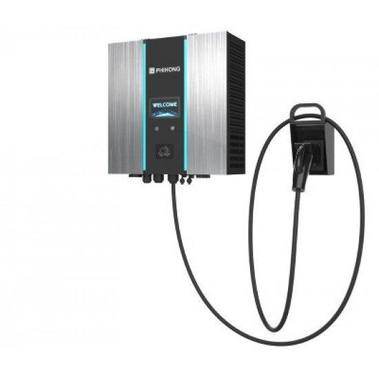 DC Charger Wallbox 30kW CCS2 EV Charger Wallbox RFID+WiFi+LAN+4G