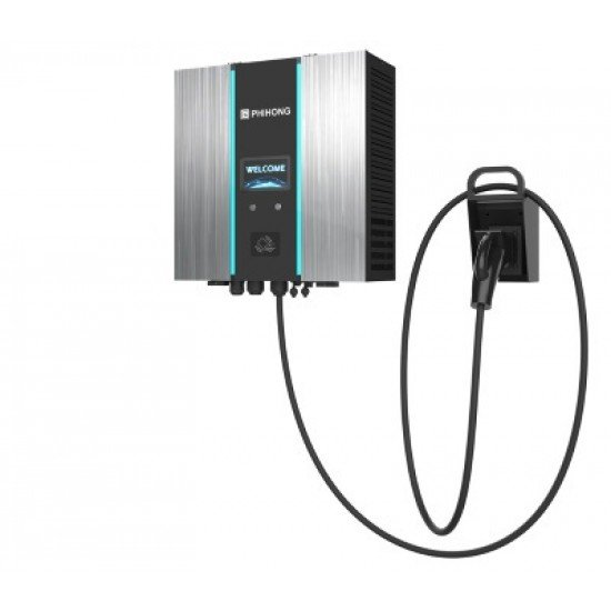 DC Charger Wallbox 30kW CCS2 EV Charger Wallbox RFID+WiFi+LAN