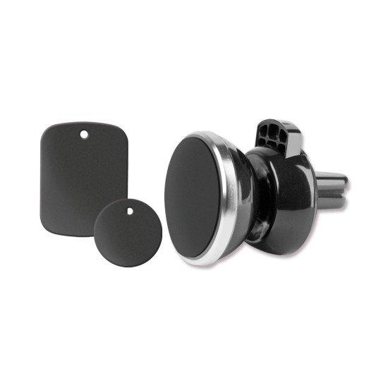Kfz Magnet Lüftungsgitter Halterung Mago sw mit 360° Drehgelenk und verstellbare Klemme