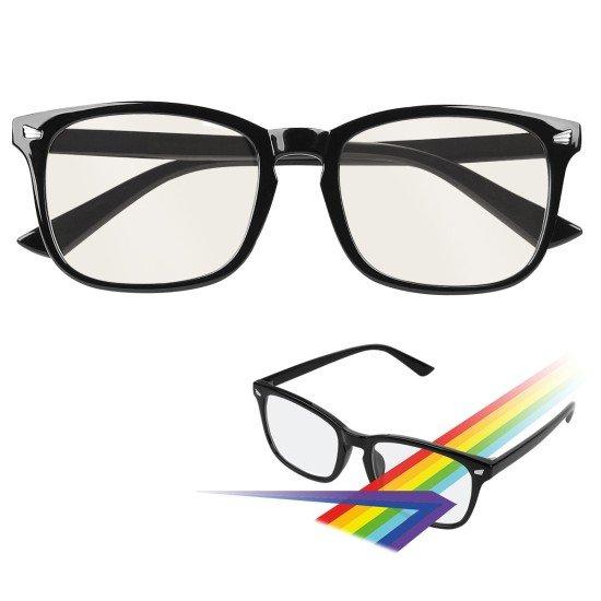 """Essential Anti-Blaulicht und UV Brille """"Bony"""" komfortable, modische Brillenfassung, schwarz"""