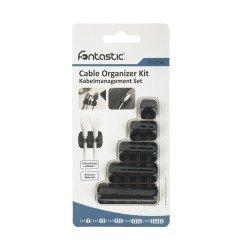 Multipurpose Cable Clip Set, 5pcs, black