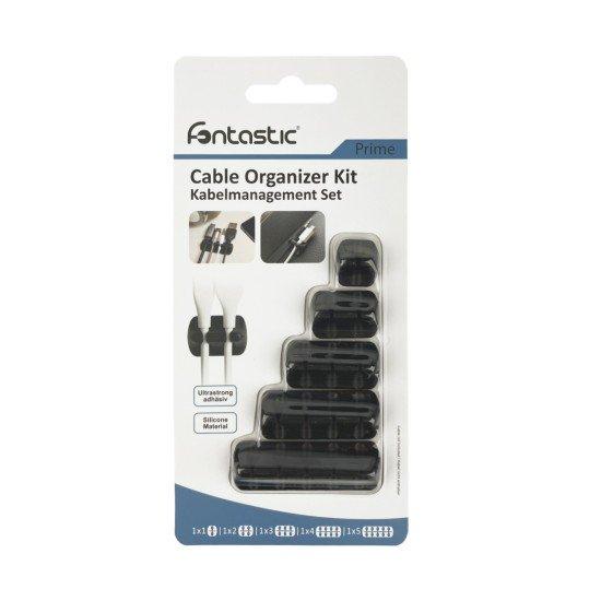 5-Teiliges Selbstklebendes Kabelmanagement Set sw 1 bis 5 Steckplatzhalter, Kabeldurchmesser 2-7MM