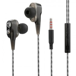 In Ear Headset Duett, with Dual Driver, black