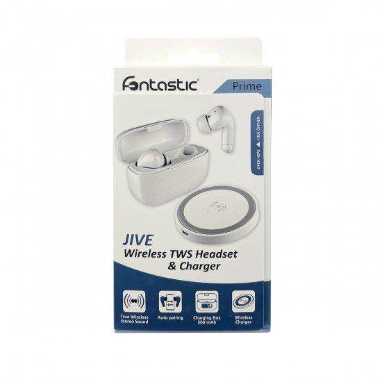 TWS In-Ear Kopfhörer Jive inkl Ladecase, weiß Kabelloses Laden über das mitgelieferte Ladepad