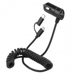 Car Charger Nano Connect Micro-USB 3A black