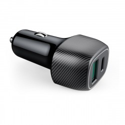 Car charger USB-A Fast Charge 3.0 + Type-C PD 36W