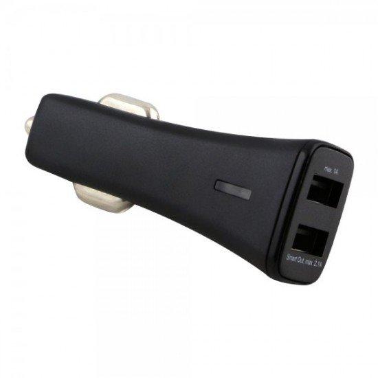 Kfz-Ladeadapter Smart Twin-USB 3.1A schwarz mit integriertem Smart IC