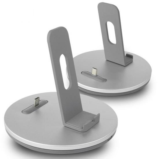 Dockingstation USB auf Micro USB mit justierbarem Micro USB Stecker