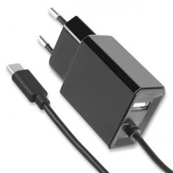 AC Charger Diamond Type-C 1.2m + USB-A black