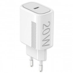 AC Charger Novac USB Type-C PD 20W white Power Delivery compatible with Apple iP12, bulk