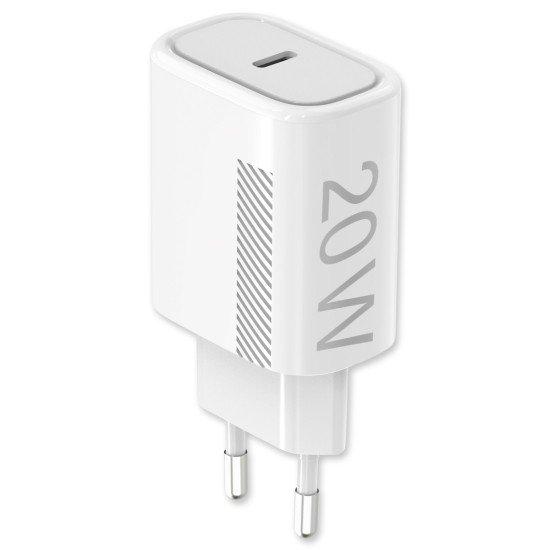 Netzteil Novac USB Type-C PD 20W weiß Power delivery kompatibel mit Apple iPhone 12