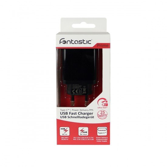 Netzteil Sama USB Typ-C PD 25W schwarz PD, PPS kompatibel mit Samsung und weitere Marken
