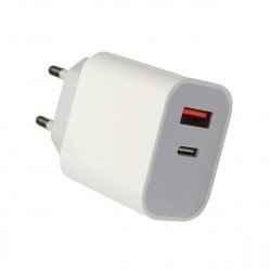 AC Charger Fort22 Type-C PD + USB-A FC3 20W white