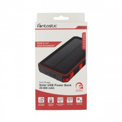 Solar Power Bank Xora20 20000mAh schwarz