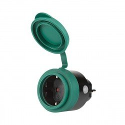 Wi-Fi Outdoor Socket IP44 16A 3680W black/green comp with Android,iOS,Alexa,Google Assistant
