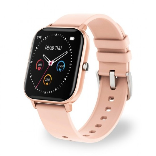 Smarte Armbanduhr FontaFit 460CH Tila rosegold Metallgehäuse, Ersatzarmband, Sport, Puls, IP67