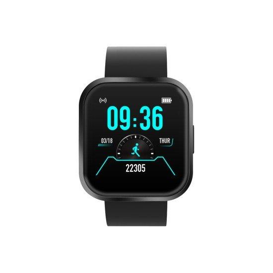 "Smarte Armbanduhr FontaFit 360CH Sena schwarz Metallgehäuse, Push-Nachrichten, 1,54"" Display"