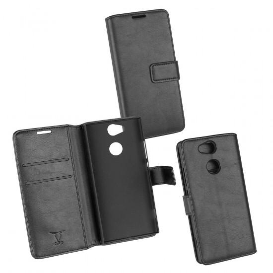 PU Tasche Diary Business schwarz komp. mit Sony Xperia XA2