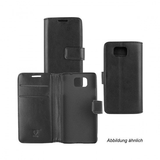 PU Tasche Diary Business schwarz komp. mit Motorola Lenovo Moto G5 Plus