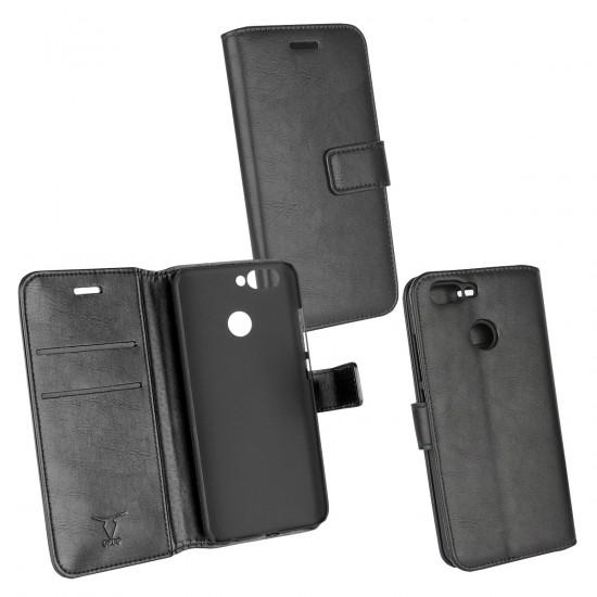 PU Tasche Diary Business schwarz komp. mit Huawei Nova 2 (2017)