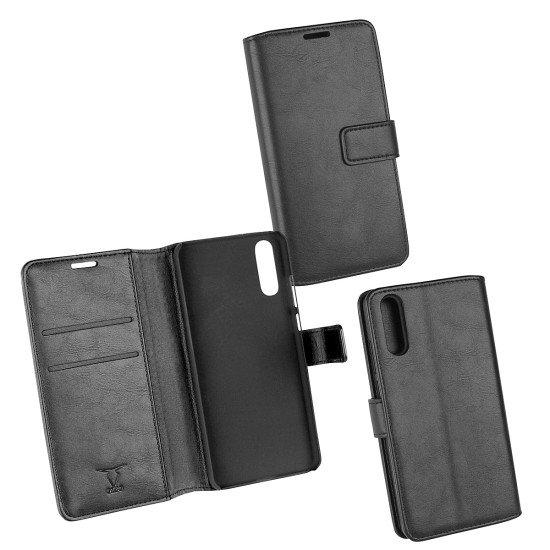 PU Tasche Diary Business schwarz komp. mit Huawei P20