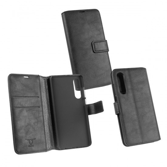 PU Tasche Diary Business schwarz komp. mit Huawei P30