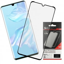 Curved Full Cover Tempered Glass Black comp. with Huawei P30 Pro