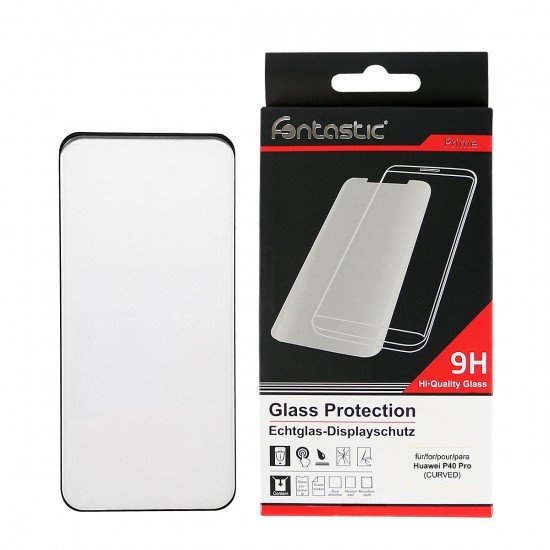 Curved Full Cover Tempered Glass Black comp. with Huawei P40 Pro