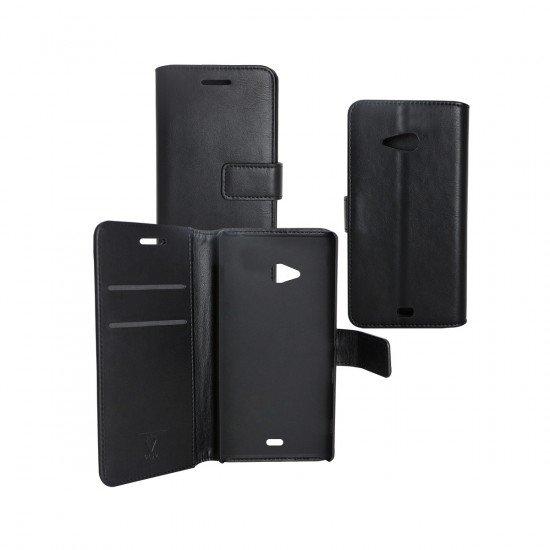PU Tasche Diary Business schwarz komp. mit Nokia Lumia 535