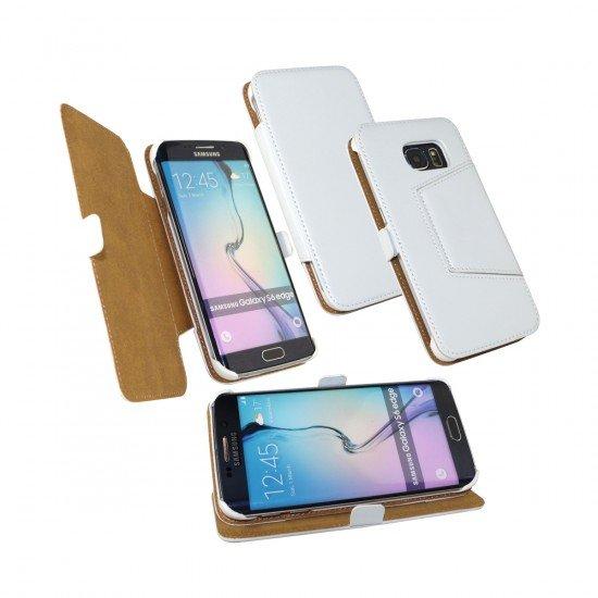 Tasche Diary weiß komp. mit Samsung Galaxy S6 Edge
