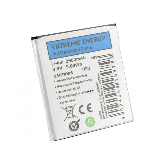 Extreme Energy Li-Ion 2600mAh komp. mit Samsung Galaxy Grand Prime