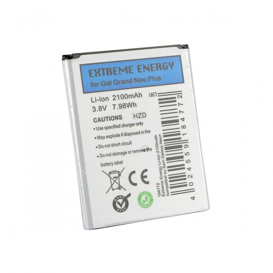 Extreme Energy Li-Ion 2100mAh komp. mit Samsung Galaxy Grand Neo+