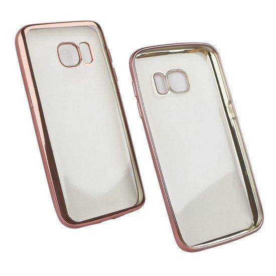 Softcover Clear Metallic Ultrathin Rosegold komp. mit Samsung Galaxy S7