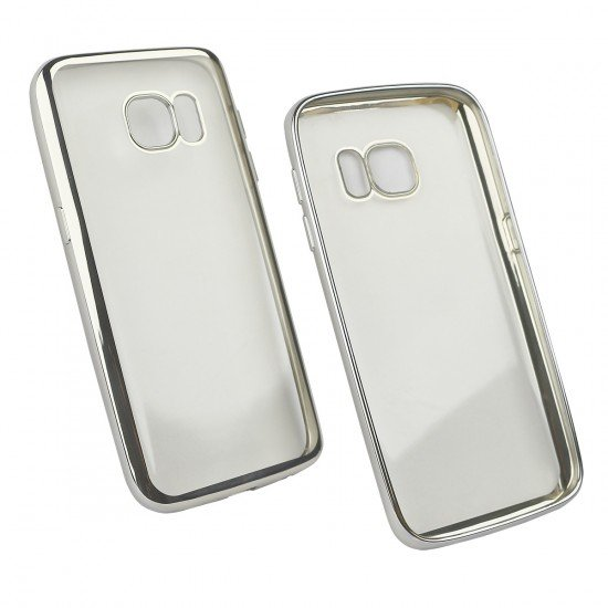 Softcover Clear Metallic Ultrathin Silber komp. mit Samsung Galaxy S7