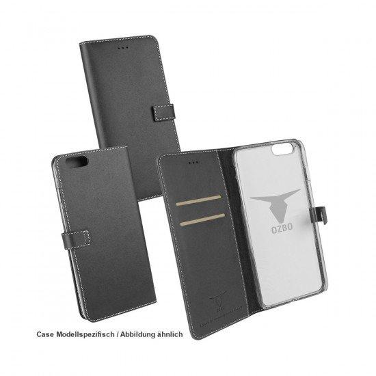 PU Tasche Diary Leda schwarz komp. mit Samsung Galaxy S7