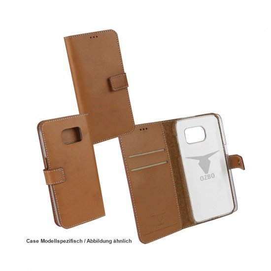 PU Tasche Diary Leda braun komp. mit Samsung Galaxy S7 Edge