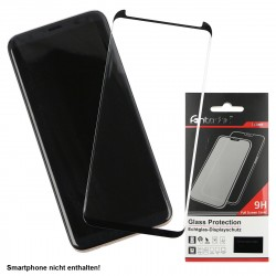 Curved Full Cover Tempered Glass Black comp. with Samsung Galaxy S8