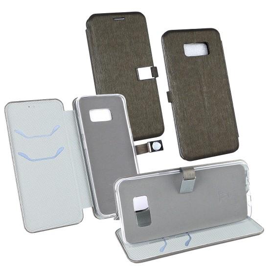 PU Tasche Diary Ela dunkel grün komp. mit Samsung Galaxy S8