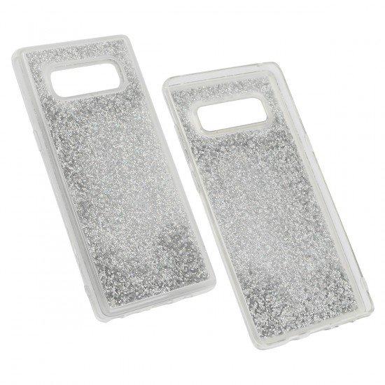 Hybridcover Gliz Silber komp. mit Samsung Galaxy Note 8