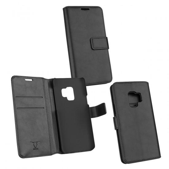 PU Tasche Diary Business schwarz komp. mit Samsung Galaxy S9