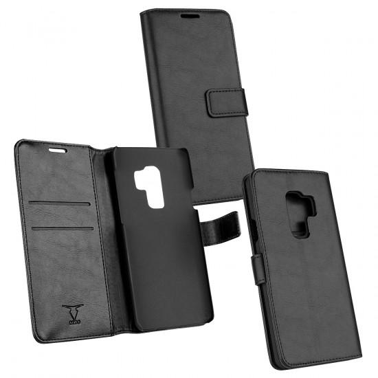PU Tasche Diary Business schwarz komp. mit Samsung Galaxy S9 Plus