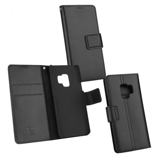 Ledertasche Diary Piel schwarz NFC (RFID) Leseschutz, komp Sam Gal S9