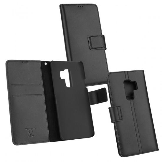 Ledertasche Diary Piel schwarz NFC (RFID) Leseschutz, komp Sam Gal S9 Plus
