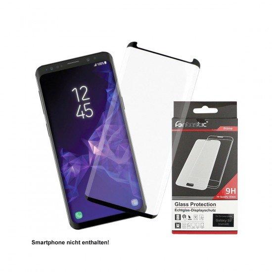 Curved Full Cover Schutzglas Schwarz Case Friendly, komp. Samsung Galaxy S9