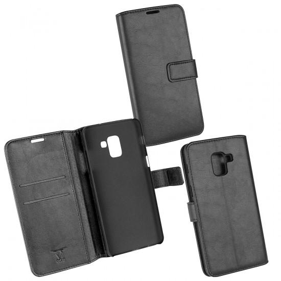 PU Tasche Diary Business schwarz komp. mit Samsung Galaxy A8+ (2018)