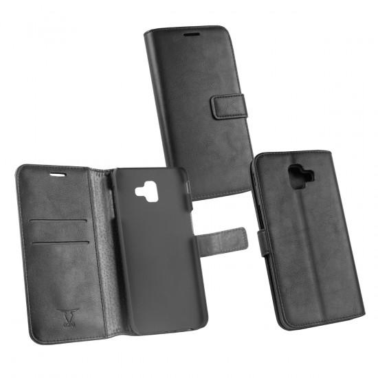 PU Tasche Diary Business schwarz komp. mit Samsung Galaxy J6 Plus (2018)