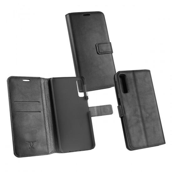 PU Tasche Diary Business schwarz komp. mit Samsung Galaxy A7 (2018)