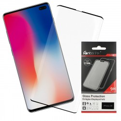 Curved Full Cover Tempered Glass Black comp. with Samsung Galaxy S10 Plus