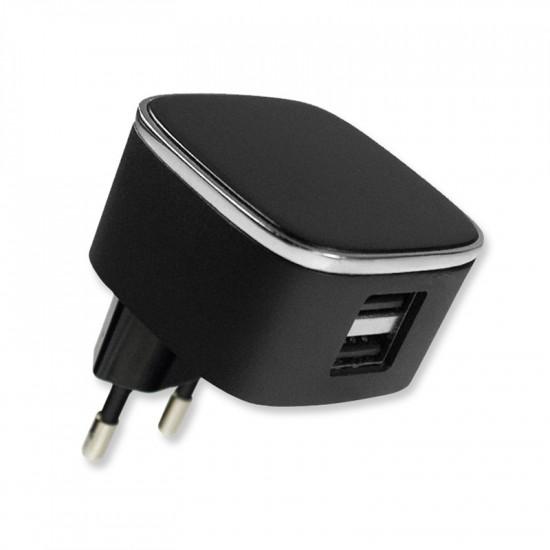 Netzteil Smart Twin-USB 3.1A schwarz mit integriertem Smart IC